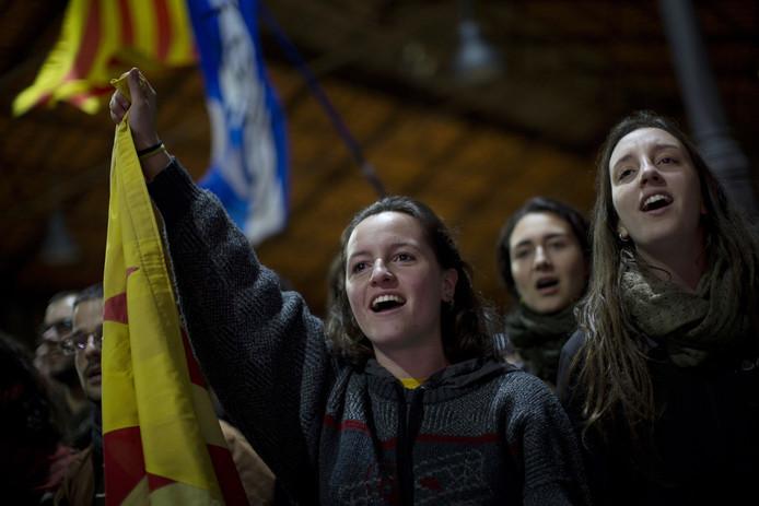 Voorstanders van een onafhankelijk Catalonië.