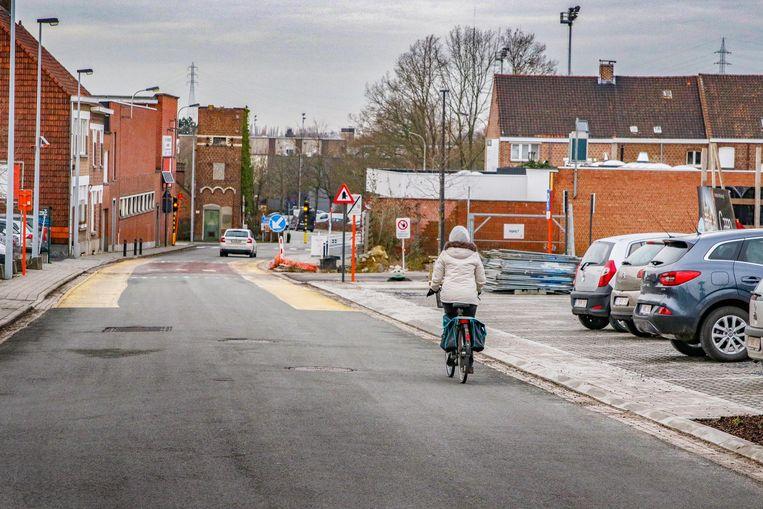 Het fietspad door de site Leanderhof zal een veilig alternatief vormen voor onder meer dit stuk langs de Bekaertstraat.