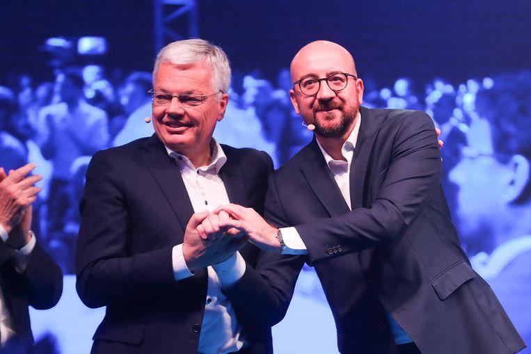 MR-vicepremier Didier Reynders en premier Charles Michel hopen voor hun partij de meubels te kunnen redden.