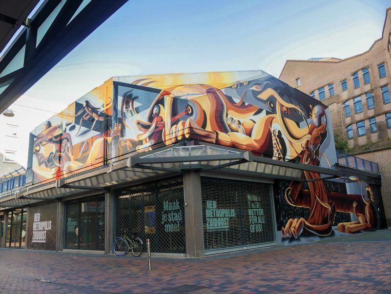 De muurschildering van Munir de Vries. Beeld Brand The Urban Agency