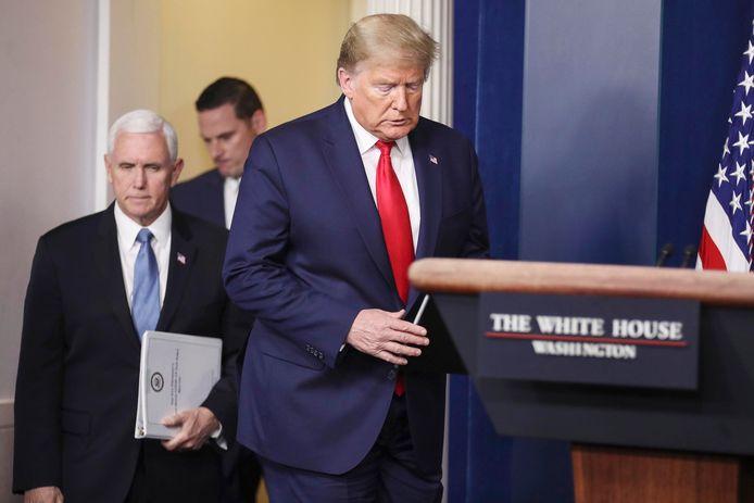 Donald Trump et son vice-président Mike Pence