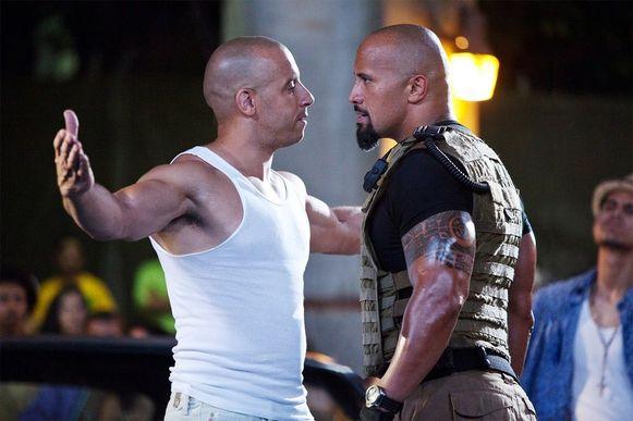 Het liep fout tussen Vin Diesel en Dwayne Johnson, bekend als 'The Rock'.