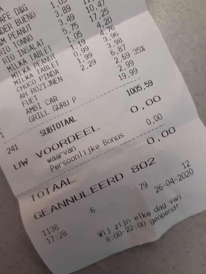 De winkeldieven wilden voor 1000 euro aan spullen jatten.