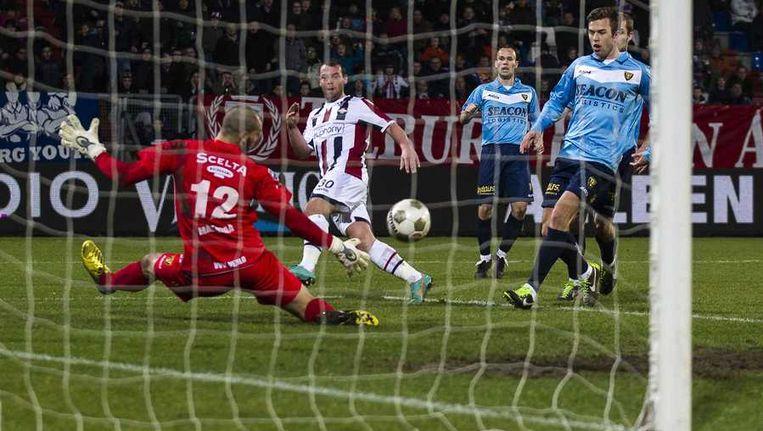 Nick Hofs mist één van de vele kansen van Willem II. Beeld anp