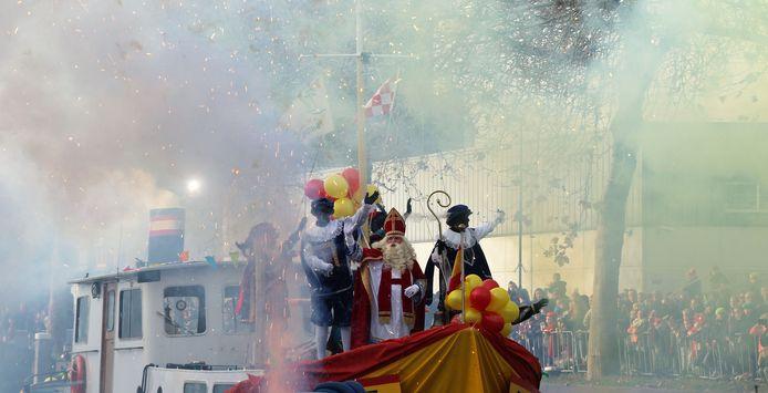 Vuurwerk voor Sinterklaas in Veghel