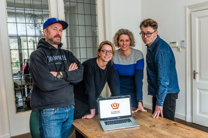 Vanaf links: Raymond van den Hoek, Paulien van de Bunt, Mariska Bergman en Sander van der Horn.