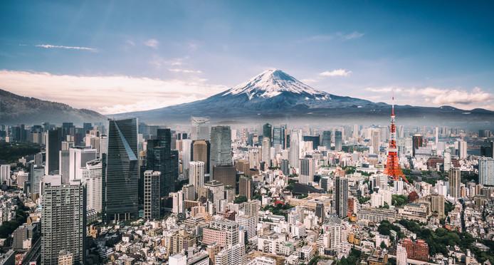 Een fraai beeld van Tokio.