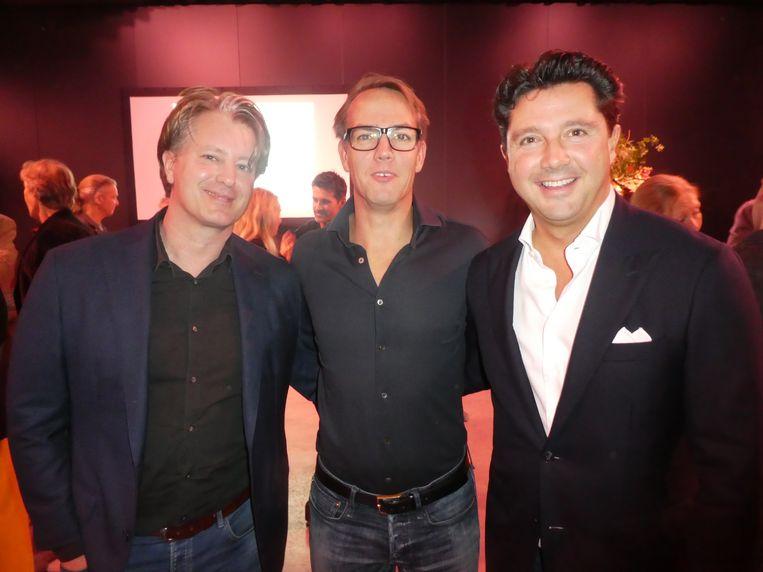 Menno Riemersma (Amsterdam Taxi United), Diederik Geraedts (Mobilis Fitness, waar Hans ook nog regelmatig heeft afgezien) en Sander Lusink (Oger). Beeld Hans van der Beek