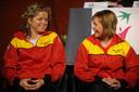 Kim Clijsters met Sabine Appelmans op archiefbeeld.