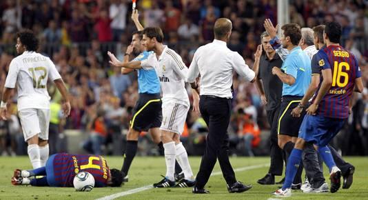 De wedstrijd om de Supercopa in 2011 is waarschijnlijk de meest beladen Mourinho - Guariola die er is gespeeld.