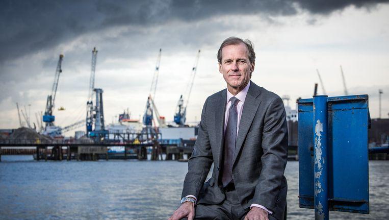 Allard Castelein, sinds 2014 president-directeur van het Havenbedrijf Rotterdam Beeld Freek van den Bergh