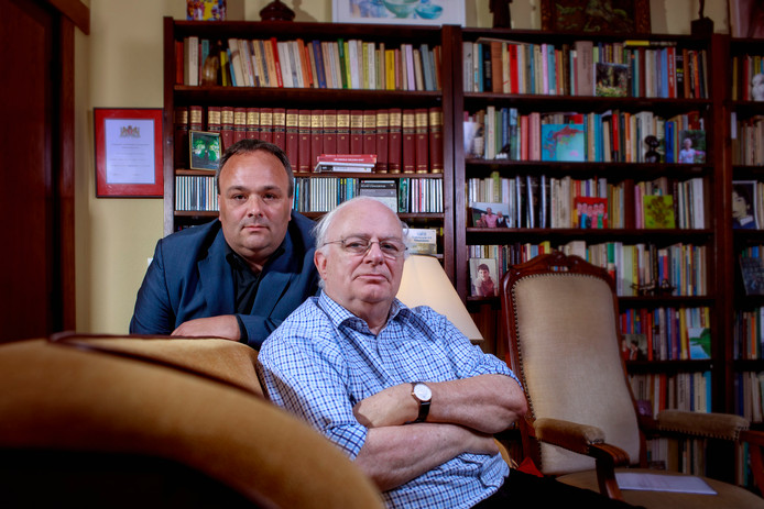 Politieman Tibor Fijnaut en zijn vader Cyrille Fijnaut