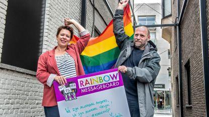 Citroenstraatje wordt regenboogstraatje op Internationale Dag tegen Holebifobie en Transfobie
