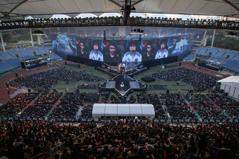 Beelden van het League of Legends-wereldkampioenschap begin november in Incheon, Zuid-Korea.