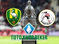 ADO en Sparta strijden om plek in tweede ronde TOTO KNVB Beker