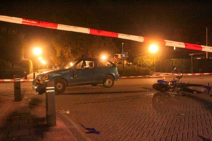 Gewonde en veel schade bij een ongeval in Warnsveld.