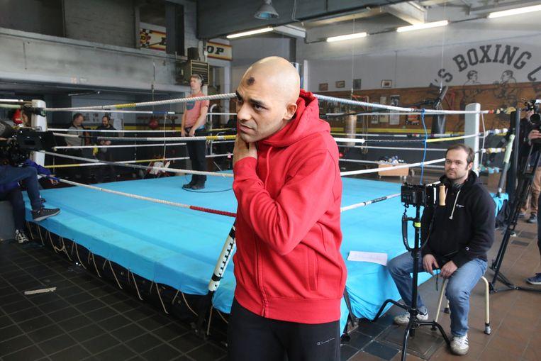 Hoofdrolspeler Nabil Mallat op de set van 'Cool Abdoul'.