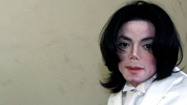 Michael Jackson (1958- 2009), foto uit 2002.