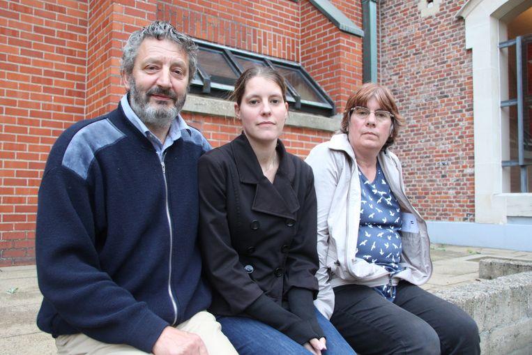 Elly's moeder Stefanie Herman tussen haar ouders Luc en Inge