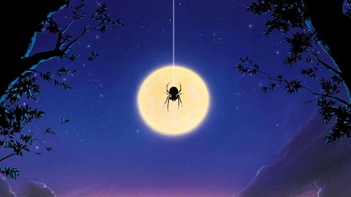 Een deel van de filmposter van Arachnophobia.