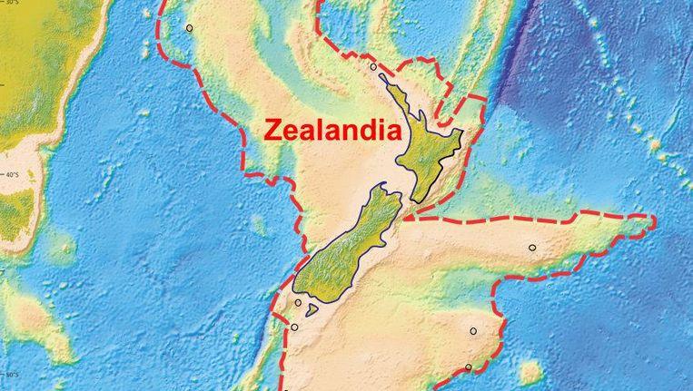 Het bewezen microcontinent Zeelandia bij Nieuw-Zeeland Beeld reuters