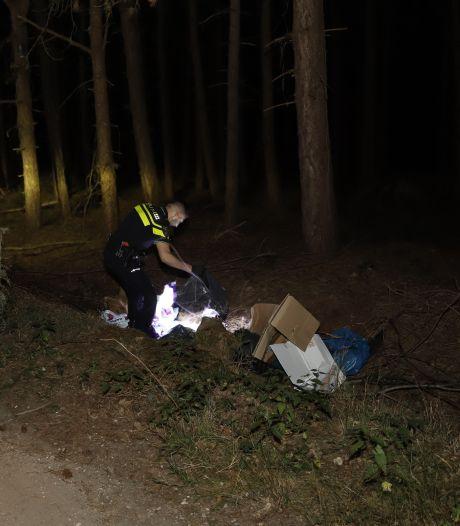 Drugsafval gevonden in bos bij Sint Hubert