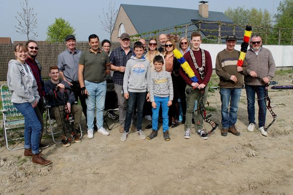 De deelnemers aan de schieting van Willem Tell in Diksmuide