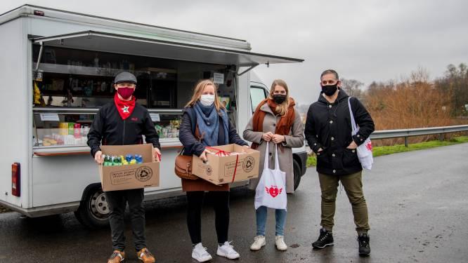Solidariteitsactie levert honderden producten op: bedeling aan kwetsbare gezinnen gebeurt via sociale kruidenier Slaatje Praatje