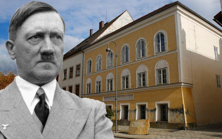 Het geboortehuis van Hitler in Braunau am Inn in Oostenrijk wordt omgevormd tot een politiebureau.