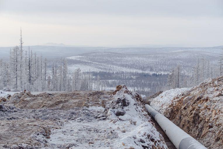 Blagovesjtsjensk, de plek waar het gas maandag na drieduizend Siberische kilometers China in zal stromen. Beeld Max Avdeev