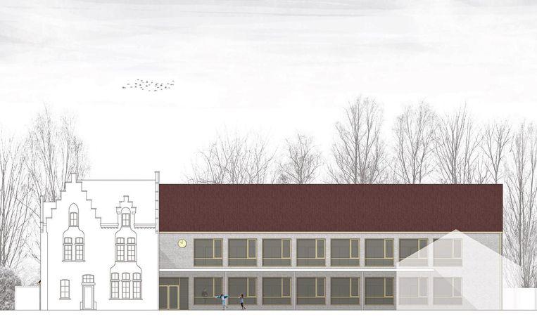 De nieuwbouwplannen van de gemeenteschool in de Vredesdreef kregen 2 jaar geleden al een vergunning.