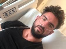 Matthieu (37) was topfit, maar ligt nu in het ziekenhuis met corona: 'Blijkbaar denken veel mensen dat het nep is'