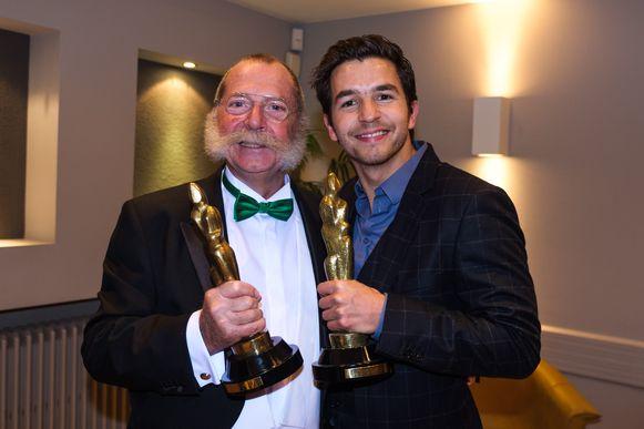 20181123, Hasselt, Belgium. Frans Billen organiseert de Golden Hasselt Awards in de Lorka. In picture: Winnaars Jos Tuts en Matteo Simoni.