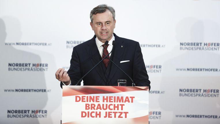 Norbert Hofer maakt in Oostenrijk kans op het presidentschap Beeld Getty Images