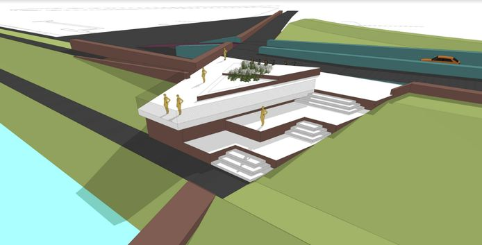 In fase 5 van Plan Veerhaven komen er zitbalkons met zicht op zee. Waterschap Scheldestromen wil toch iets meer details weten over de betonnen constructies.