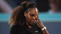 Serena Williams voor zware dobber: dan toch geen Parijse voorkeursbehandeling voor gewezen nummer één
