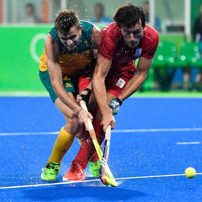 Jake Whetton en de Belg Arthur Van Doren in actie tijdens de Olympische Spelen in Rio.