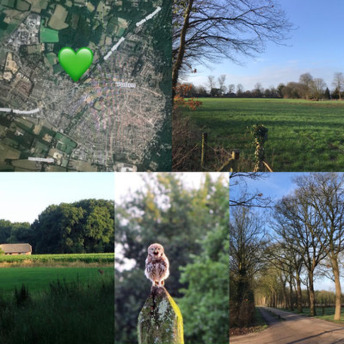 Foto's bij de petitie geven een beeld van de natuurbeleving rond de Husselsesteeg.