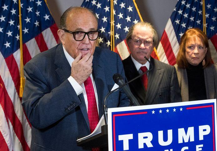 Rudy Giuliani, en conférence de presse, jeudi dernier, à Washington
