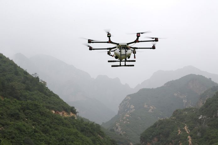 Een test- en trainingscentrum voor drones in China