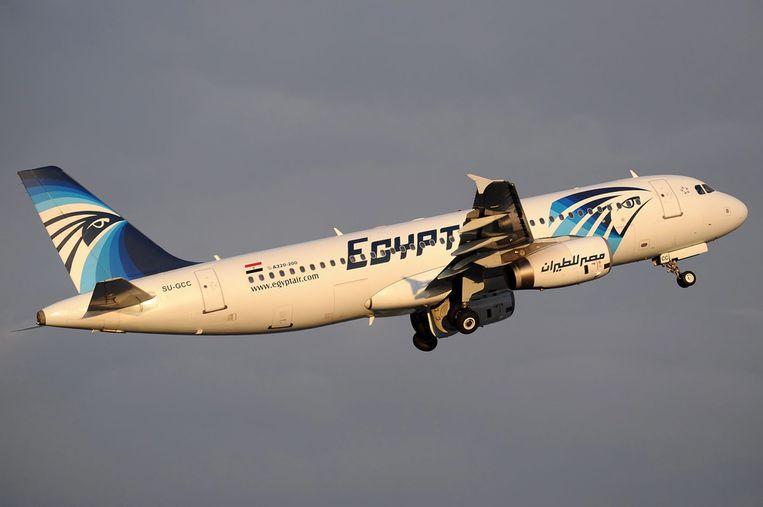 Een Airbus A320 van EgyptAir.
