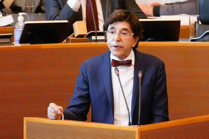Le minsitre-président wallon Elio Di Rupo au Parlement wallon, à Namur, ce 28 octobre.