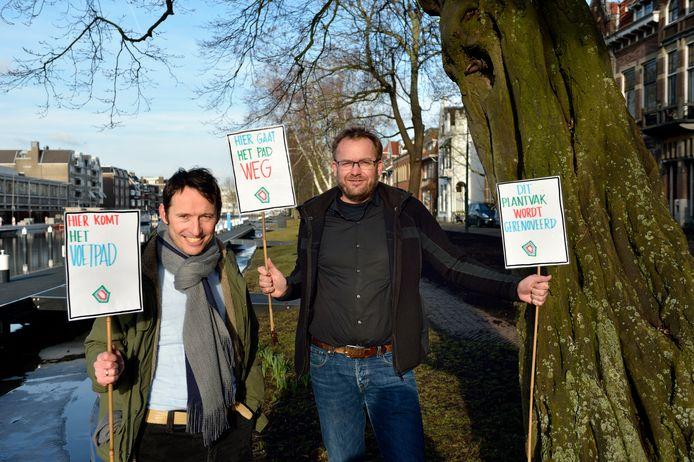 Marc Meijer en Frank-Jan Uittenbogaart, de bedenkers van Singelpark.