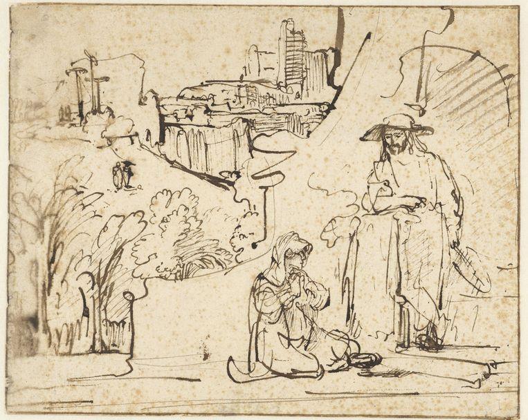 Jezus verschijnt als tuinman aan Maria Magdalena, Ferdinand Bol, c.1640, Rijksmuseum Amsterdam. Beeld Rijksmuseum Amsterdam