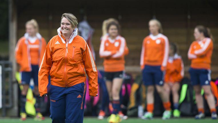Alyson Annan, sinds oktober bondscoach van het Nederlands dameshockeyteam. Beeld anp