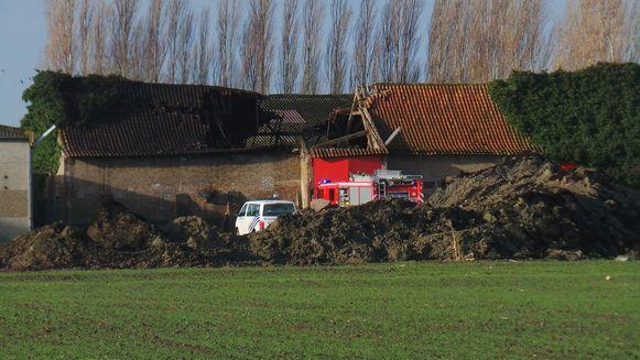 De brandweer ging zaterdagmorgen voor de derde keer in een week tijd naar hetzelfde landbouwbedrijf in de Westernieuwweg Zuid in Zuienkerke.