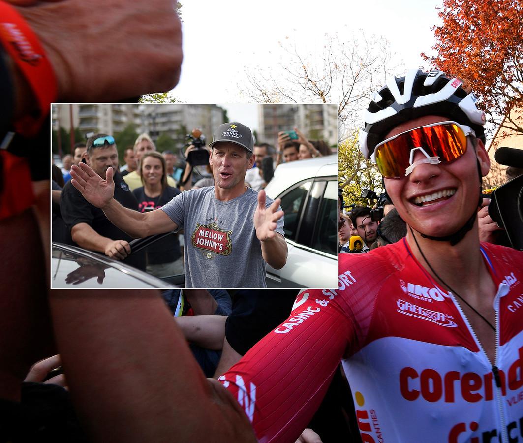 Mathieu van der Poel. Inzet: Lance Armstrong.
