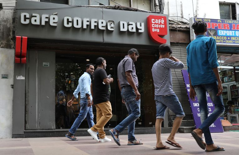 Een vestiging van Café Coffee Day, de grootste koffieketen van India.