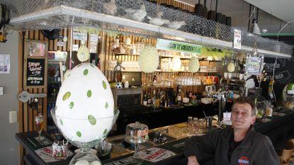 Café-uitbater houdt kuikens boven zijn toog