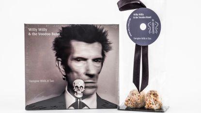 Willy Willy of Willy Wonka? Soloalbum voorgesteld met pralines in de vorm van een doodshoofd